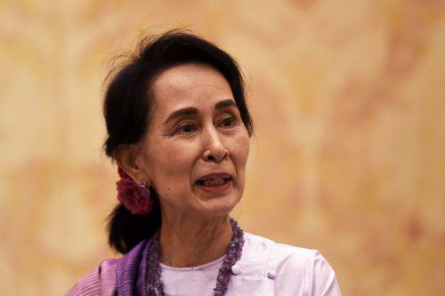Regierungschefin Aung San Suu Kyi hat lange geschwiegen. afp