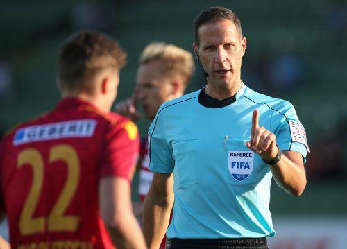 Robert Schörgenhofer pfeift am Sonntag Ex-Weltmeister Deutschland. gepa