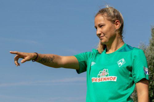 Sabrina Horvat kann zufrieden auf ihr erstes Spiel mit Werder Bremen zurückblicken. Beim 3:0 in Mönchengladbach bereitete sie den Führungstreffer vor.Hepberger
