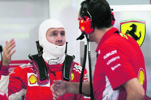 Sebastian Vettel hat nach seinem Ausritt im Freien Training Erklärungsbedarf beim Team.apa