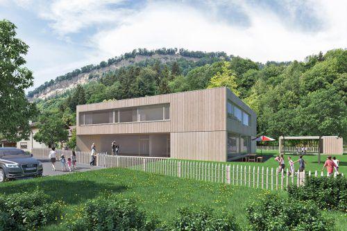 So wird das neue Kinderhaus nach der Fertigstellung aussehen. DI Heim