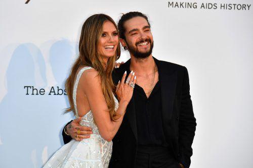 Strahlendes Paar: Heidi Klum und Tom Kaulitz.AFP