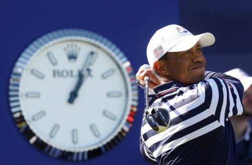 Tiger Woods ordnet sich beim Ryder Cup dem Team unter. Reuters