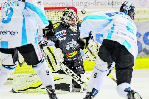 Torhüter Rasmus Rinne ist Dornbirns verlässliche Rückversicherung. Der Finne musste in vier Spielen erst sechs Gegentreffer hinnehmen. gepa
