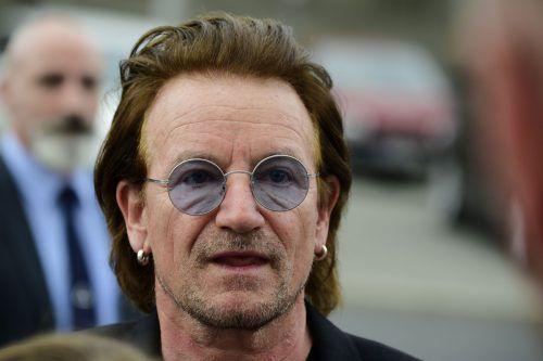 U2-Sänger Bono musste am Samstag das Konzert abbrechen. AFP