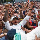 Hamilton siegt im Ferrari-Land
