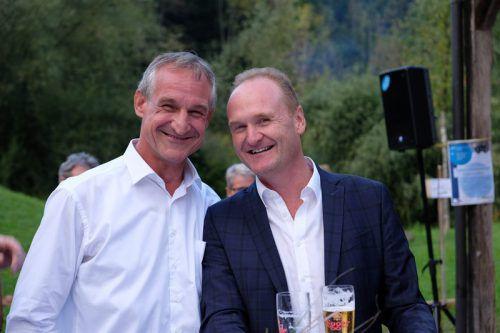 Vernissageredner Bgm. Markus Linhart und Bgm. Guido Flatz.