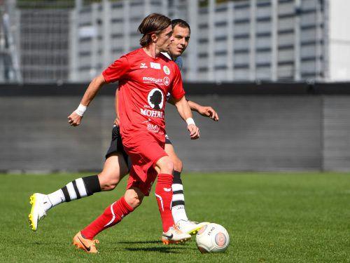 Wieder topfit und mit der Routine von 29 Jahren ausgestattet: Franco Joppi ist einer der entscheidenden Faktoren im Spiel von Tabellenführer FC Dornbirn. VN-Lerch