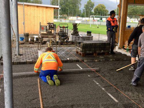 Zahlreiche Vereinsmitglieder haben sich beim Bau engagiert. cth