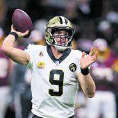 Drew Brees brach NFL-Passrekord