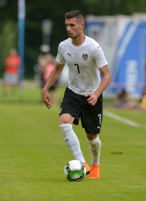 Altachs Adrian Grbic (22) geht mit dem U-21-Team auf Torejagd.gepa
