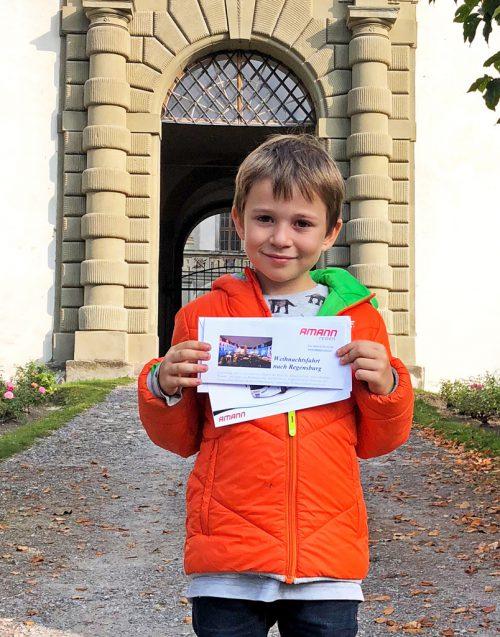 Alexander Dichtl gewann die Fahrt zum Weihnachtsmarkt in Regensburg.the