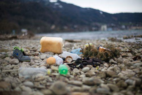 Am Bodenseeufer findet sich zeitweise viel Abfall. Jürgen Ulmer/Umweltverband
