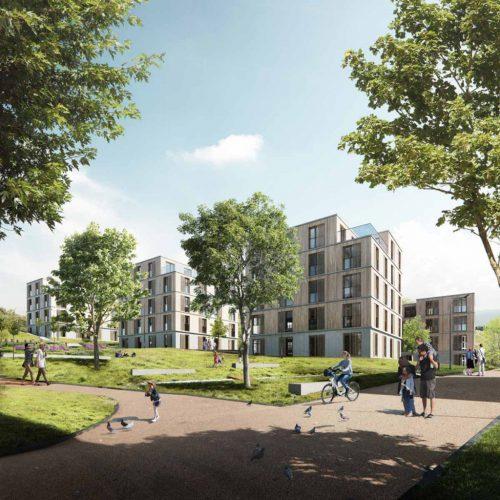 Am Rinker-Areal entstehen Wohnungen in allen Größen. Aldinger Architekten