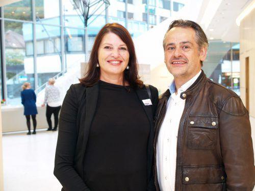 Angelika Wehinger und Erwin Kasper (Magma Feldkirch).