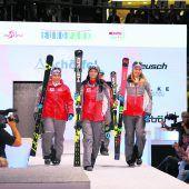 Rot dominiert neue Rennanzüge der Wintersportler