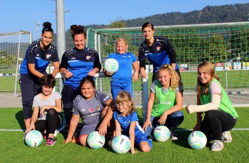 Aus dem ganzen Leiblachtal sind alle Mädchen zwischen sieben und 14 Jahren zum Fußballspielen beim Eco-Park FC Hörbranz eingeladen. bms