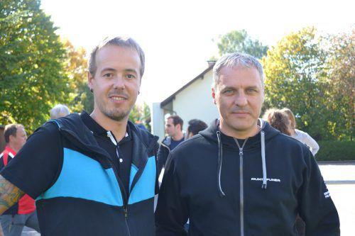 Bertram Hepberger (Intersport, l.) und Dieter Bitschnau (Onlinedekor).