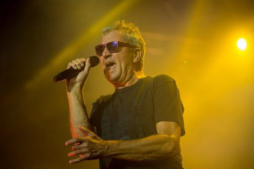 British singer Ian Gillan of the rock band Deep Purple perform on the stage on July 14, 2018 during the American Tours Festival. / AFP PHOTO / GUILLAUME SOUVANT