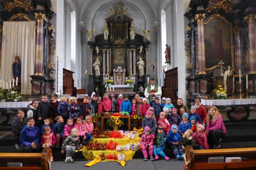 Buntes Erntedankfest in Bludesch.Kindergarten Bludesch