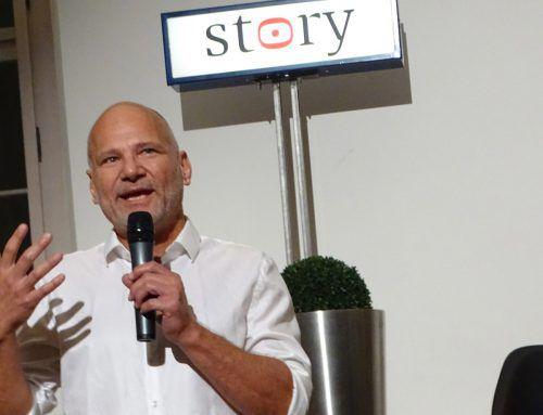 Christian Vuissa organisierte das erste Story Festival in Hohenems, das auf großes Interesse stieß. tf
