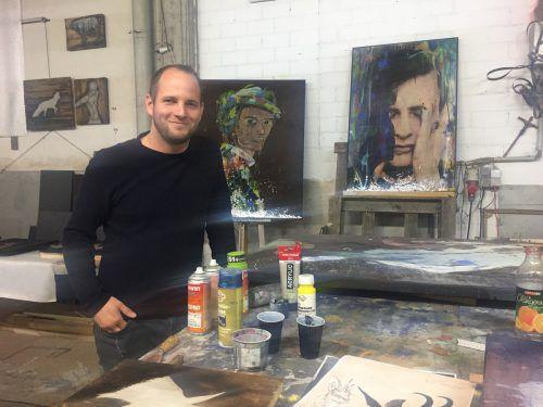 Das 250 Quadratmeter große Atelier von Stefan Finžgar und Clemens Walser in Meiningen war früher ein Stickerei-Gebäude.VN/Haller