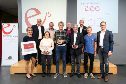 Das e5-Team aus Göfis durfte sich über die Erstzertifizierung freuen. rhomberg