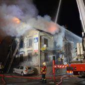 Zwei Todesopfer beim Brand eines Gasthauses in Oberriet