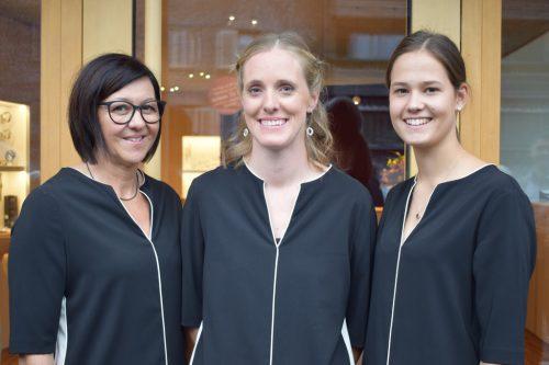 """Das """"Glanzstück"""" -Team mit Helene Steurer, Christina Fetz-Eberle und Pia Berchtold. ME"""