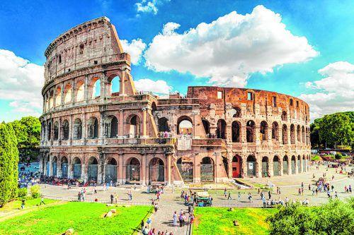 Das größte Amphitheater der römischen Antike: das Kolosseum.