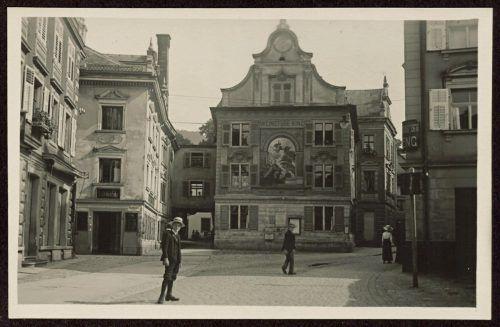 Das historische Kopfsteinpflaster der Bregenzer Kirchstraße ist bald Geschichte.Vorarlberger Landesbibliothek, Volare