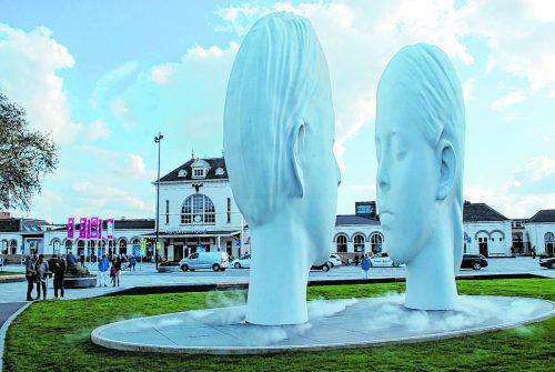 Das Kunstwerk ist Teil der 11Fountains in Friesland.