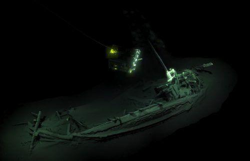 Das uralte Schiffswrack wurde im Schwarzen Meer entdeckt. afp