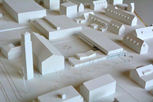Neuer Kindergarten St. Gebhard in Bregenz: das Modell des Siegerprojekts. Die Fertigstellung soll bis 2020 erfolgen.