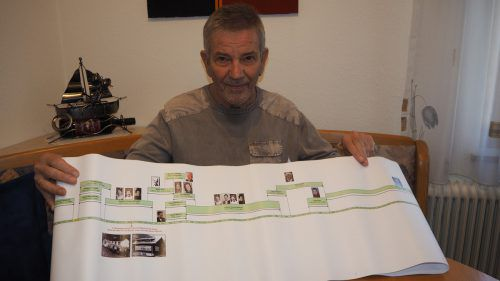 Der ehemalige VS-Lehrer Heinrich Pfanner machte sich auf Spurensuche in der Volksschule Galgenul. RAL