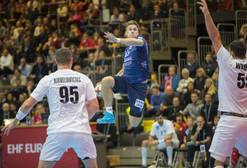 Der Ex-Bregenzer Espen Lie Hansen erzielte beim 43:31-Heimsieg von Vizeweltmeister Norwegen gegen Österreich zwei Tore.AP