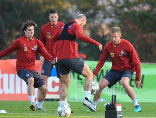 Der Fokus vor dem Ländermatch gegen Nordirland stimmt bei Marcel Sabitzer, Kevin Wimmer, Marko Arnautovic und Marc Janko.