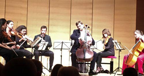Der Herbstteil des Alpenarte-Festivals endete gestern Abend mit einer Bearbeitung des berühmten Andante cantabile aus dem 1. Streichquartett von Tschaikowsky. VN/Dietrich