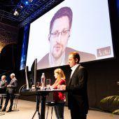 Snowdens erster Auftritt in Österreich