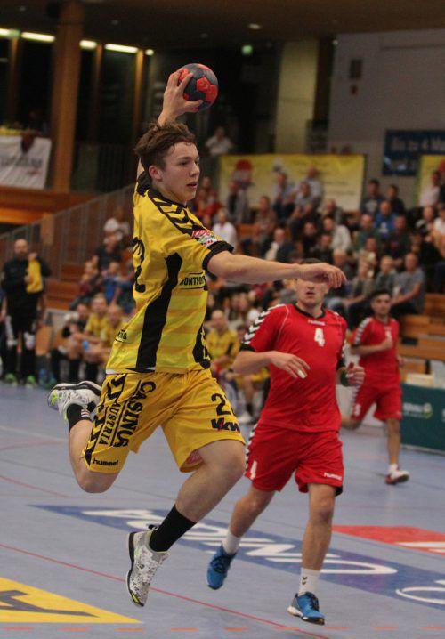 Der noch 16-jährige Robin Kritzinger erzielte in seinem ersten Europacupspiel insgesamt sieben Tore.Hartinger