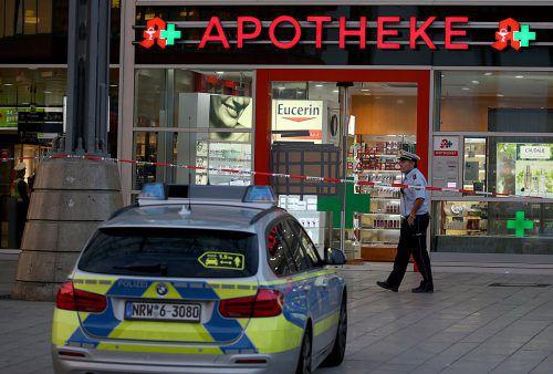 Der Täter verschanzte sich mit der Geisel in der Apotheke im Kölner Hauptbahnhof. DPA