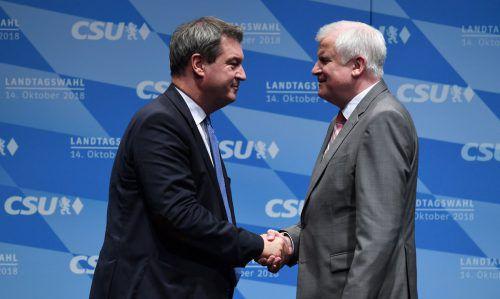 Derzeit um Geschlossenheit bemüht: Bayerns Ministerpräsident Söder und CSU-Chef Seehofer. AFP