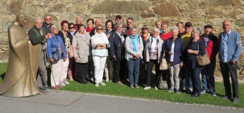 Die 25 Teilnehmer des Ausfluges hatten eine schöne Zeit in der Steiermark.jahrgang 1943