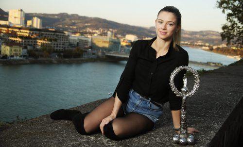 Die erste italienische Siegerin in Linz: Camila Giorgi.gepa