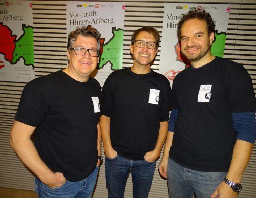 Die Festival-Organisatoren Dieter Heidegger, Harald Eisenhofer und Michael Willam (v. l.).tf