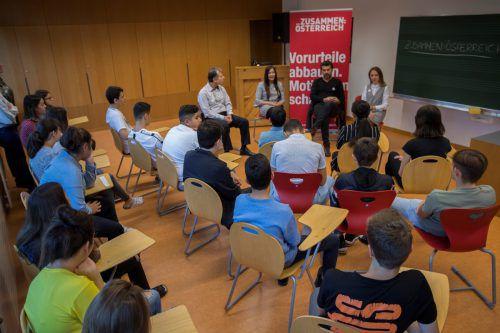 Die Integrationsbotschafter berichteten über ihre Erfahrungen.VN/Paulitsch