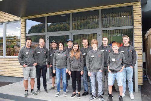 Die Künzler Markus GmbH in Bezau konnte nun Büro und Lager in einem Firmengebäude vereinen, das Team vom Wäldar Installateur feierte diesen Anlass.
