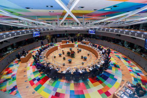 Die Staats- und Regierungschefs der EU berieten sich in Brüssel zu drängenden Themen. wAFP