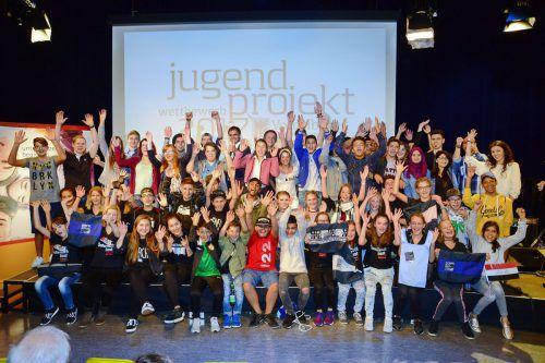 Die Teilnehmenden des letztjährigen Jugendprojektwettbewerbs.Land Vorarlberg