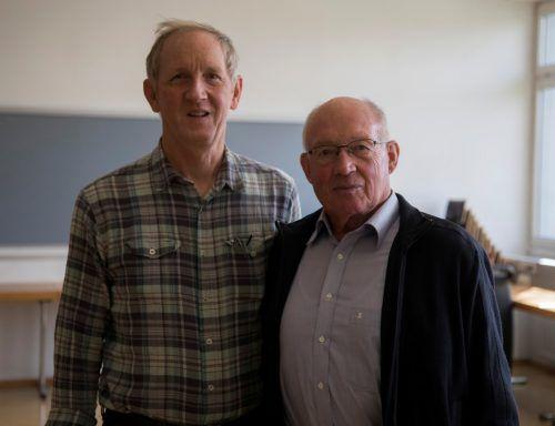 Ehemalige Preisträger: Elmar Weissenbach und Kurt Mitterlehner.
